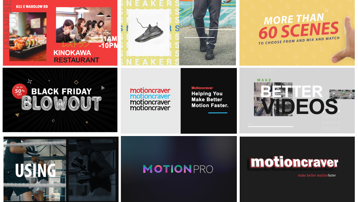Motion Pro | All-In-One Premiere Kit - 169